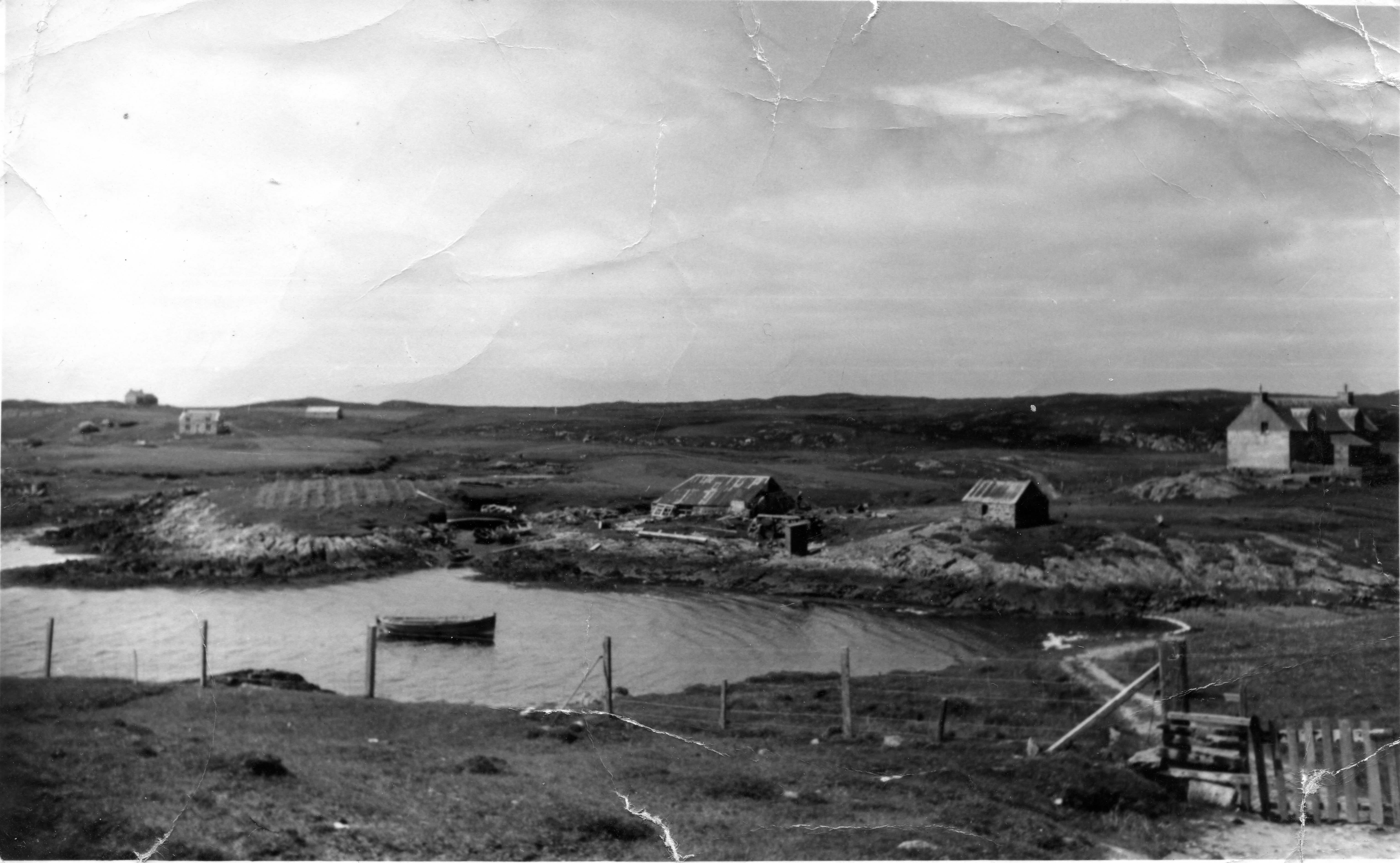 Croft at Scotvein, Grimsay, in the 1960s